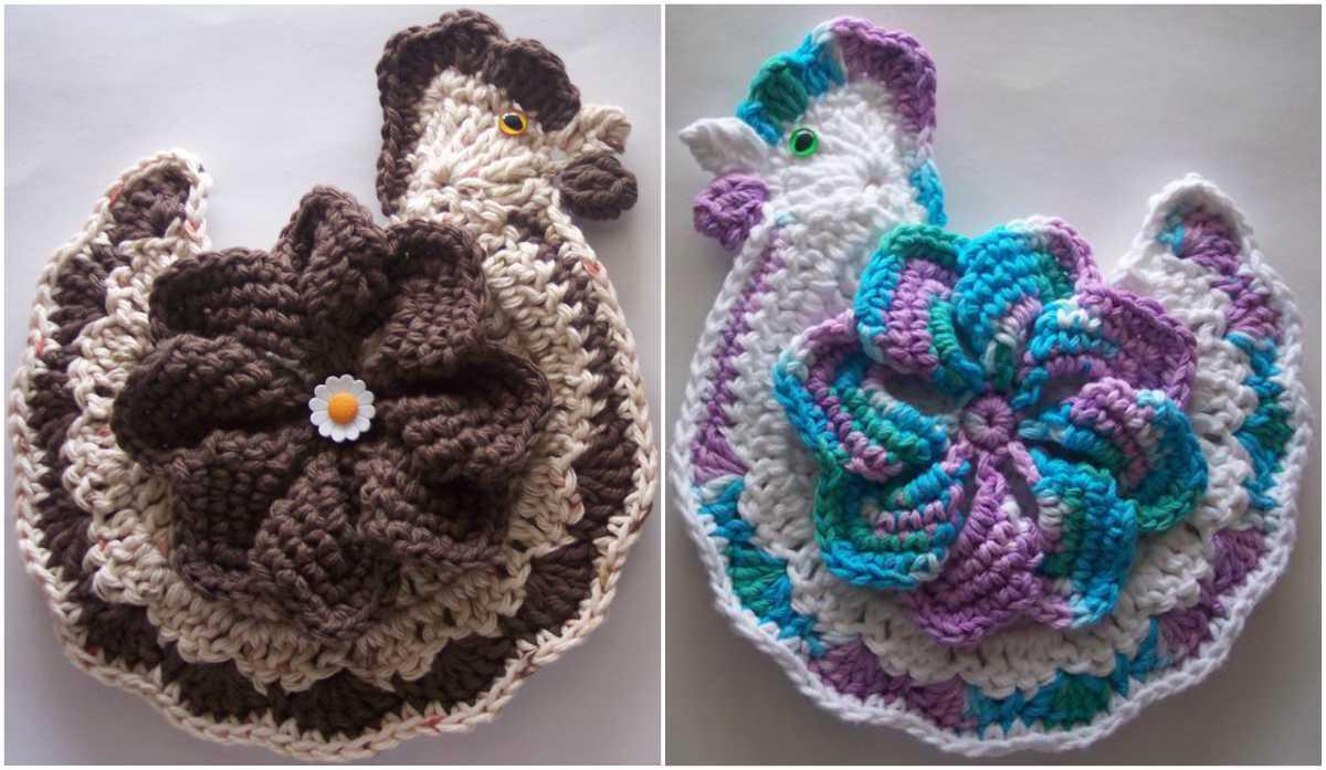 Chicken Potholder Crochet Art Tutorial Video