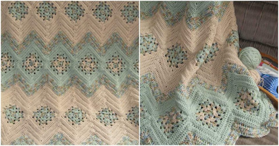 Grannies and Ripples Gorgeous Afghan - Free Crochet Pattern