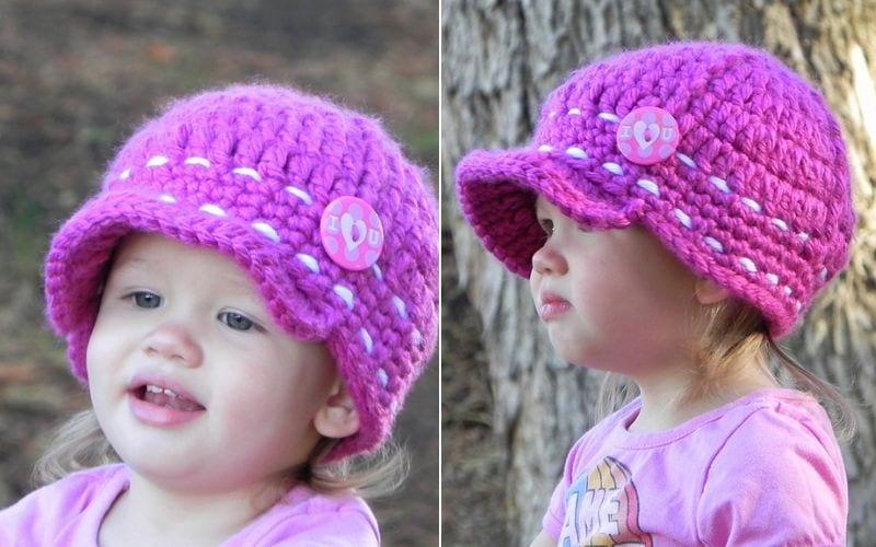 Super Cute Baby Cap Free Crochet Pattern