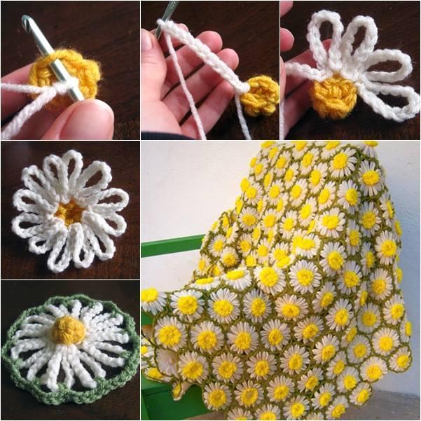Daisy Crochet Blanket 1