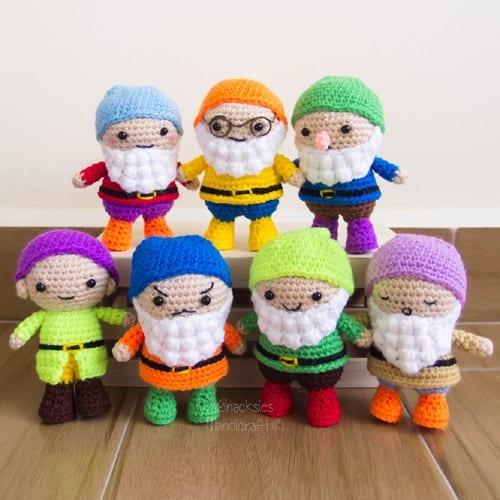 Crochet Seven Dwarfs Amigurumi Free Pattern