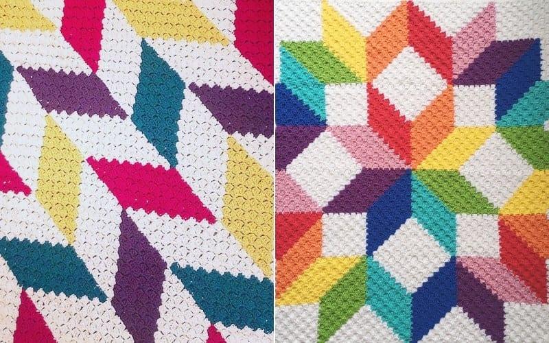 Bold C2C Blankets Free Crochet Patterns