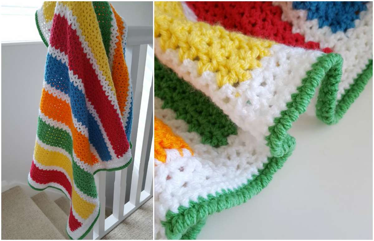 V Stitch For Crochet Baby Blanket Free Pattern