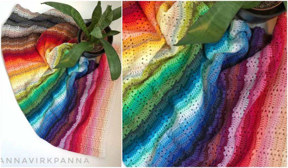 109 Color Catona Blanket - Free Crochet Pattern