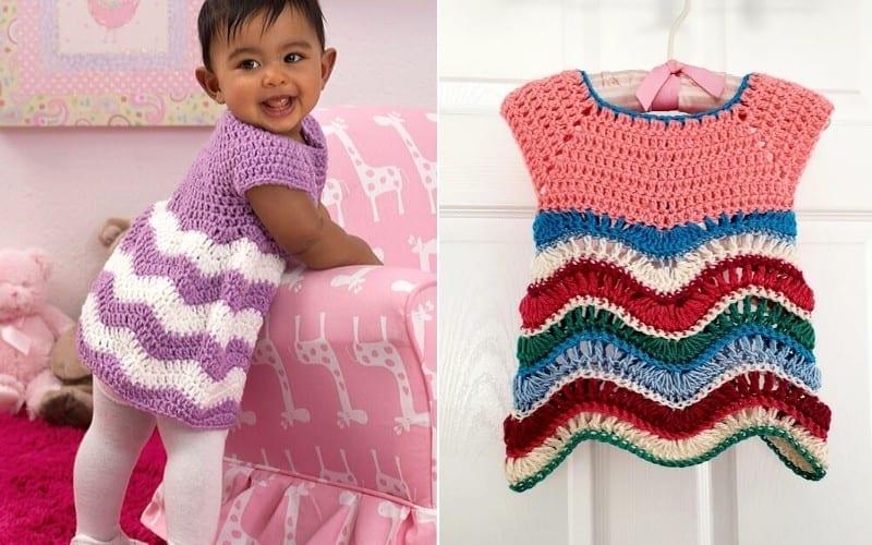 Chevron Baby Dresses