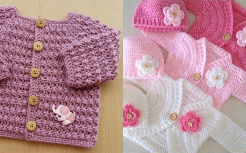 Elegant Baby Cardigans Free Croch Patterns