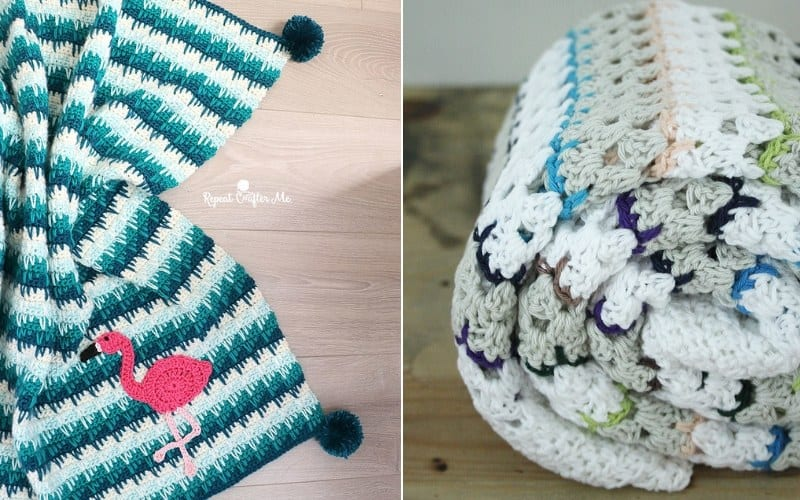 Spike Stitch Blankets Crochet Patterns