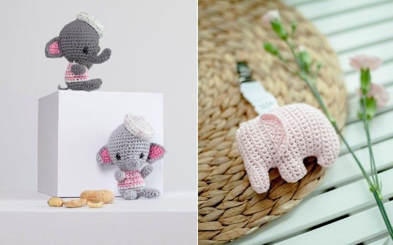 Sweet Little Elephants Free Crochet Patterns