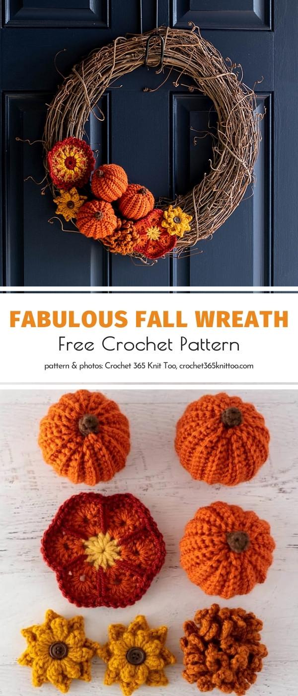 Crochet Fall Wreath