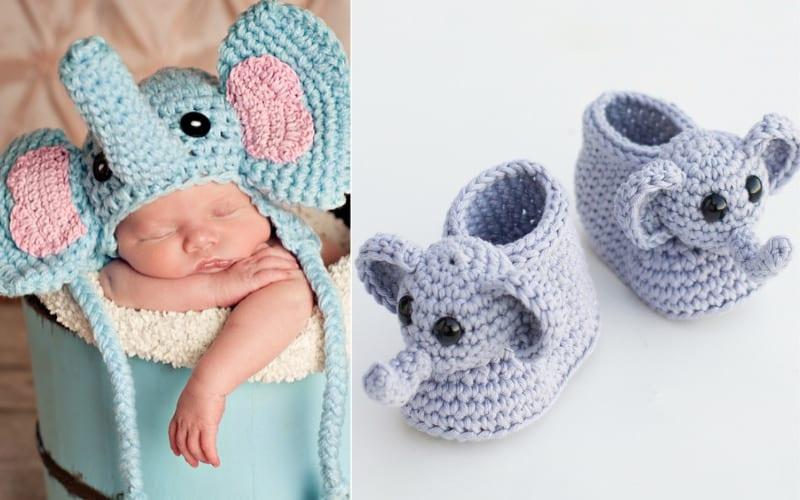 Baby Elephant Fashion Free Crochet Patterns