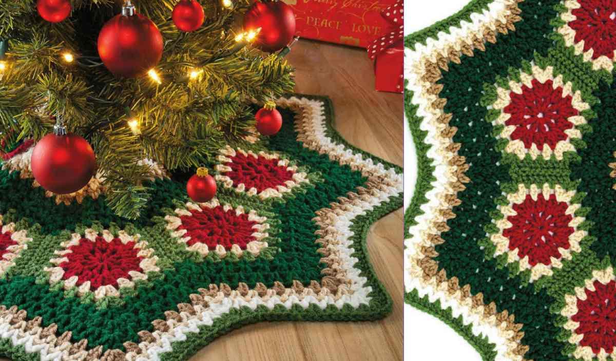 Granny Ripple Tree Skirt Crochet Pattern