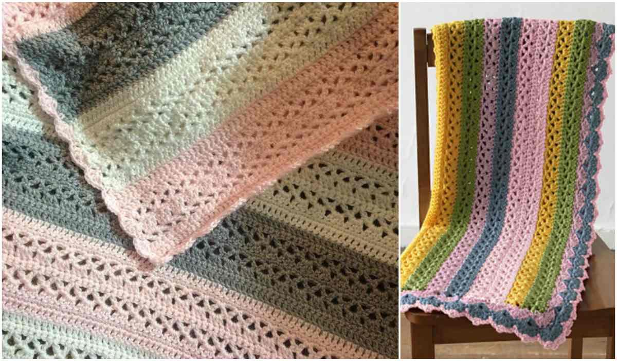 Summer Stripes Baby Afghan Free Crochet Pattern
