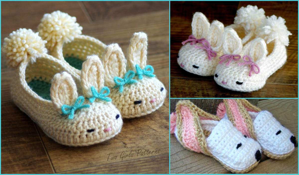 Baby Bunny Slippers Crochet Patterns Free Crochet Patterns And Video Tutorials