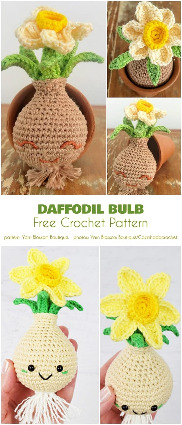 Crochet Daffodil Bulb