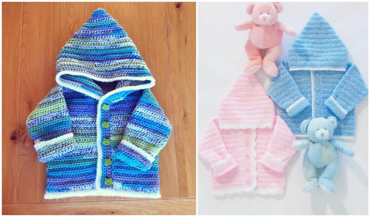 Sweet Baby Hoodie Free Crochet Pattern