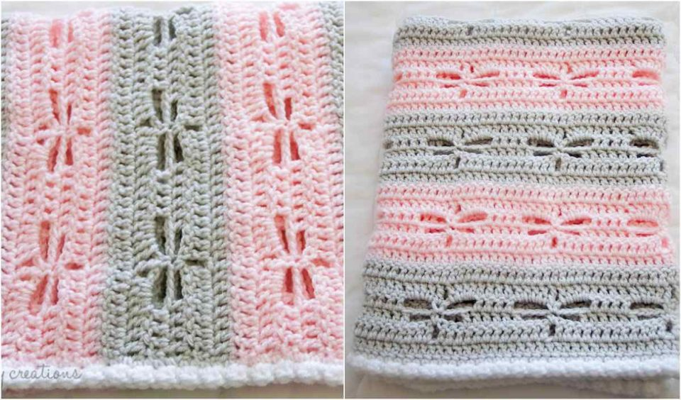 Dragonfly Baby Blanket Free Crochet Pattern