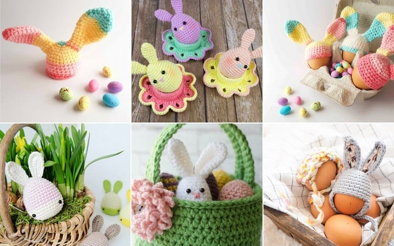 Easter Eggs and Bunnies Free Patterns
