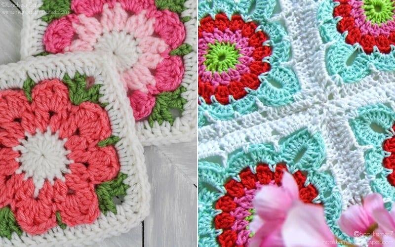 Flower Granny Squares for Spring