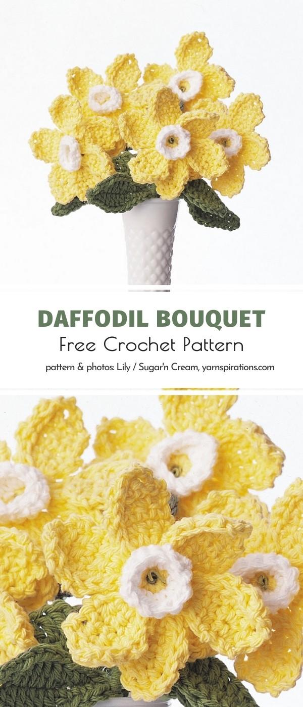 Crochet Daffodil Bouquet