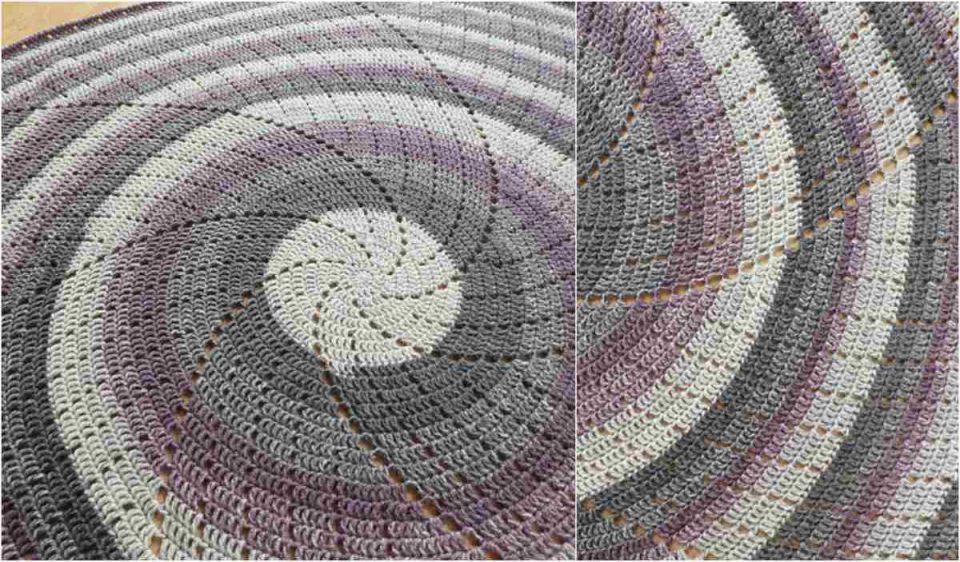 Spin Me Around Throw Free Crochet Pattern