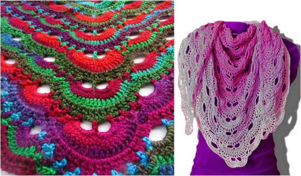 Virus Shawl Free Crochet Pattern