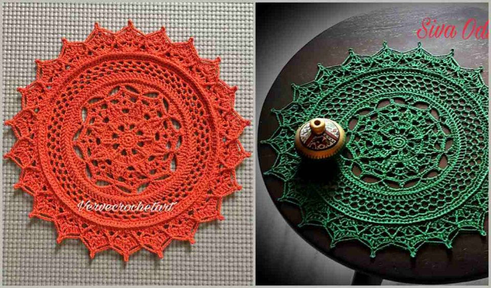 Heavenly Flower Doily Free Crochet Pattern