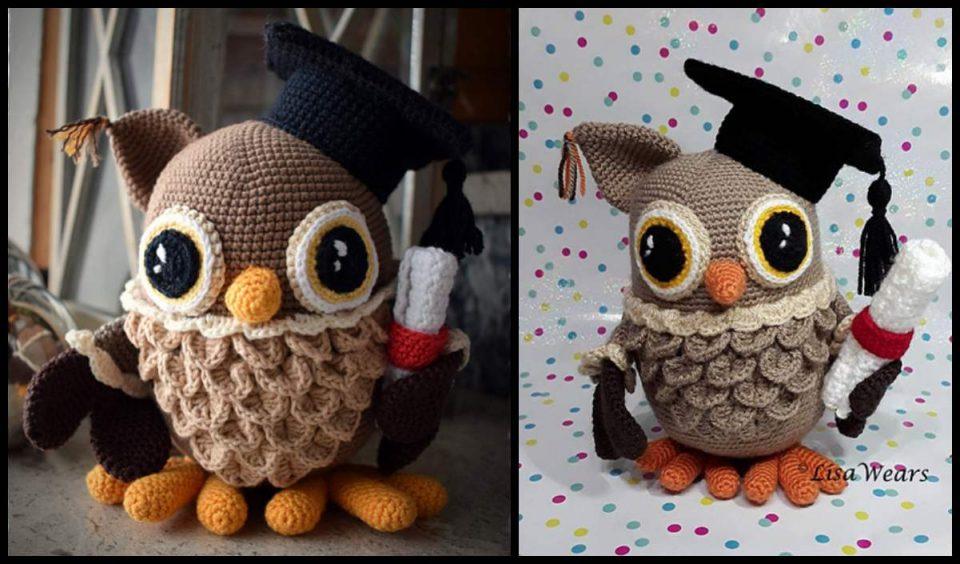 Wisdom The Graduation Owl Amigurumi Free Pattern