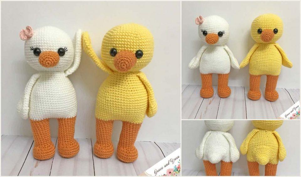Amigurumi cute ducks free crochet pattern