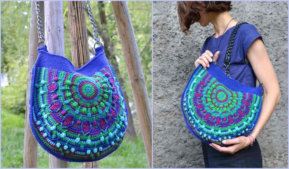 Peacock Tail Bag Free Crochet Pattern