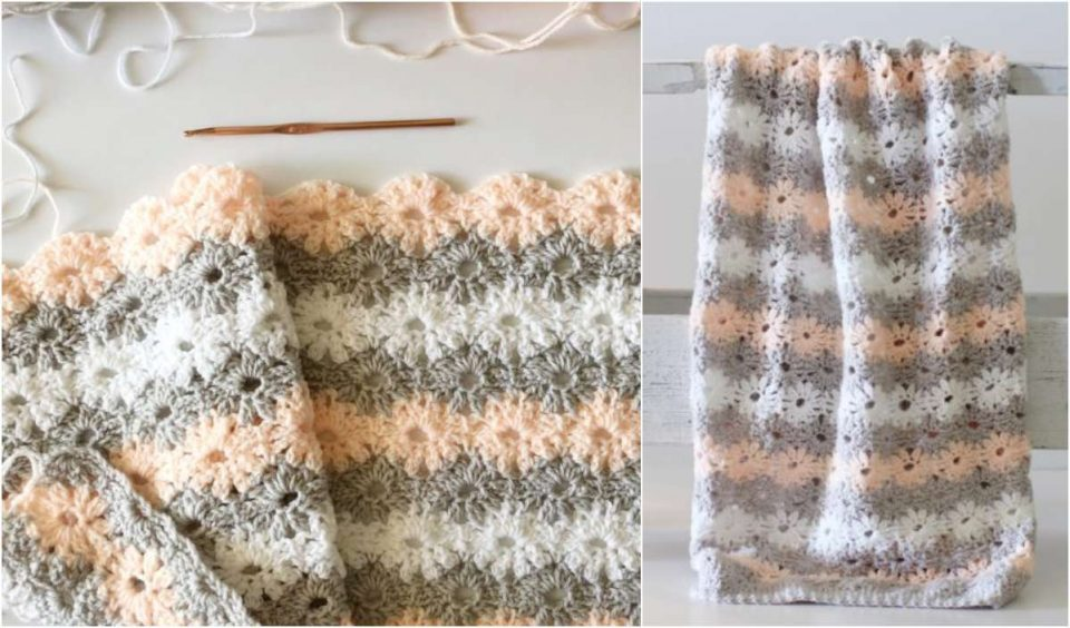 Petal Stitch Baby Blanket Free Crochet Pattern