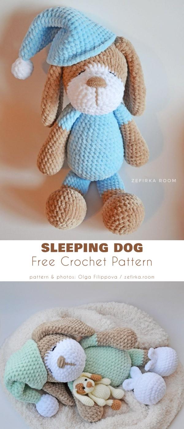 Sleeping dog amigurumi