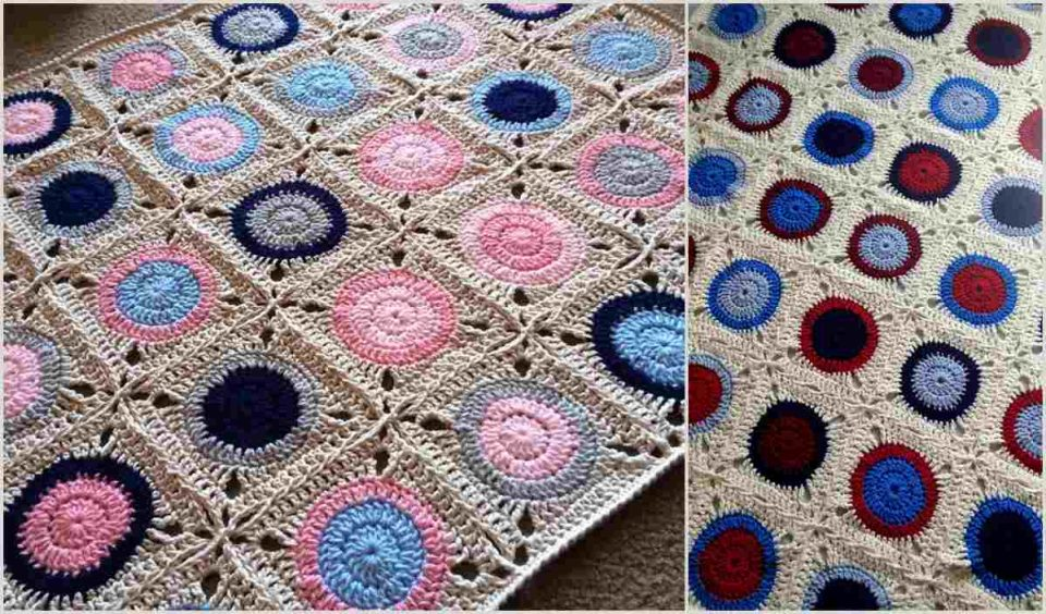 Gumball Blanket Free Crochet Pattern