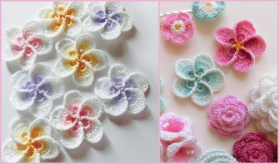 Hawaiian Plumeria Flowers Crochet Pattern