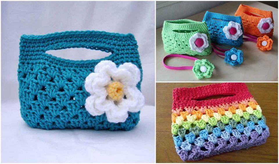 Granny Stripe Boutique Crochet Bag Free Pattern
