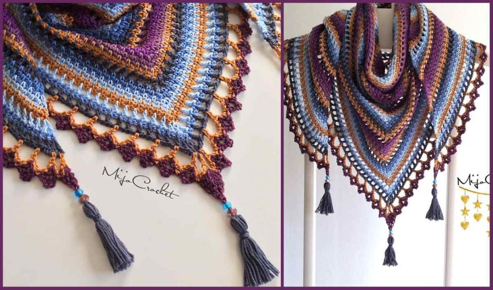 Taiga Shawl Free Crochet Pattern
