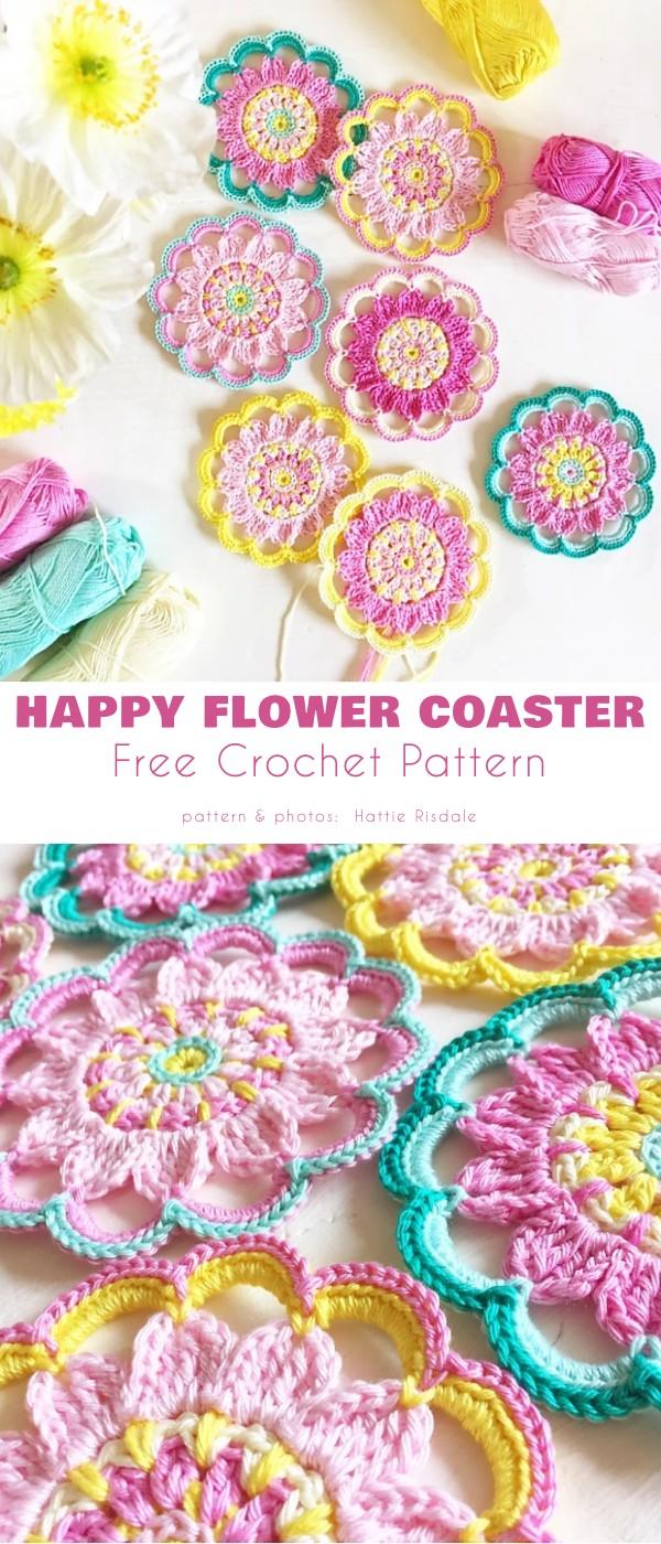 Happy Flower Coaster