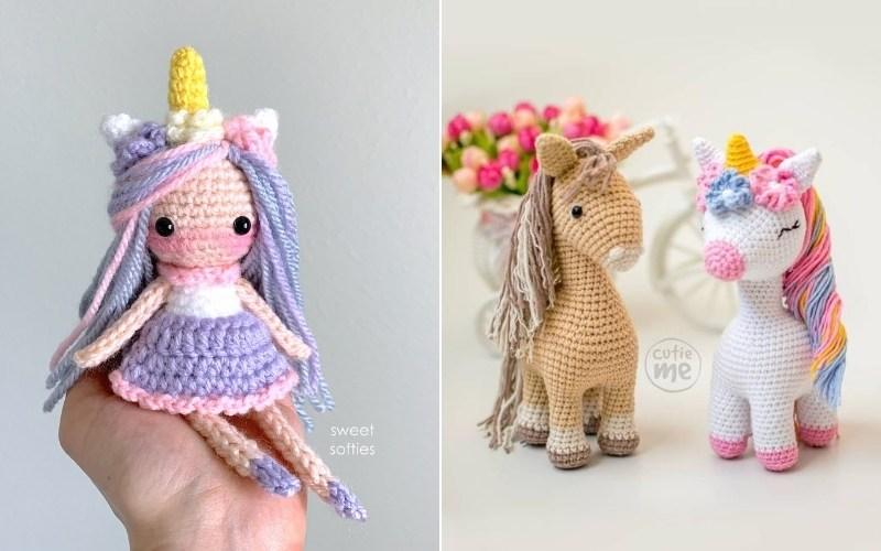 The Cutest Amigurumi Unicorns with Free Crochet Patterns