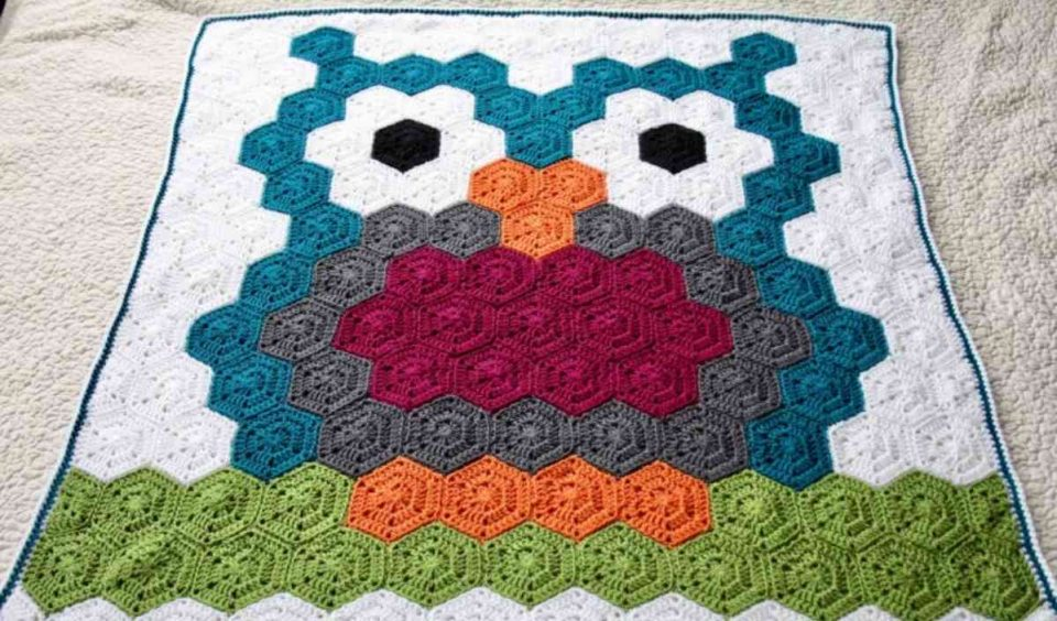 Night Owl Hexagon Blanket