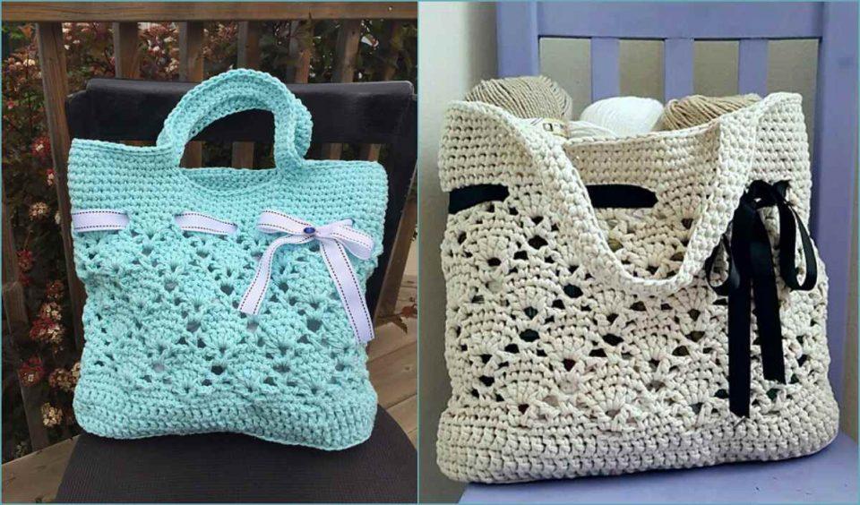 Vintage Market Tote Bag Free Crochet Pattern