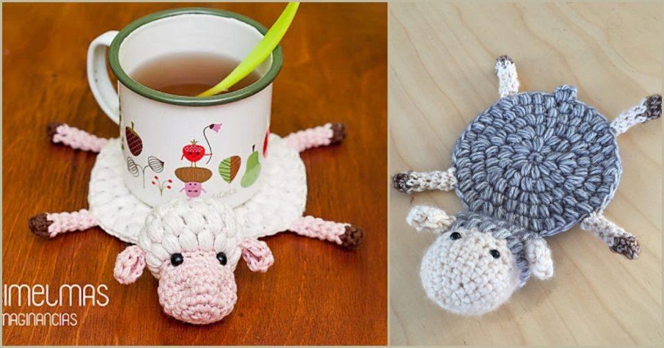 Sheep Coaster Free Crochet Patterns