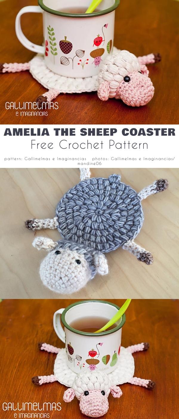 Amelia the Sheep Coaster
