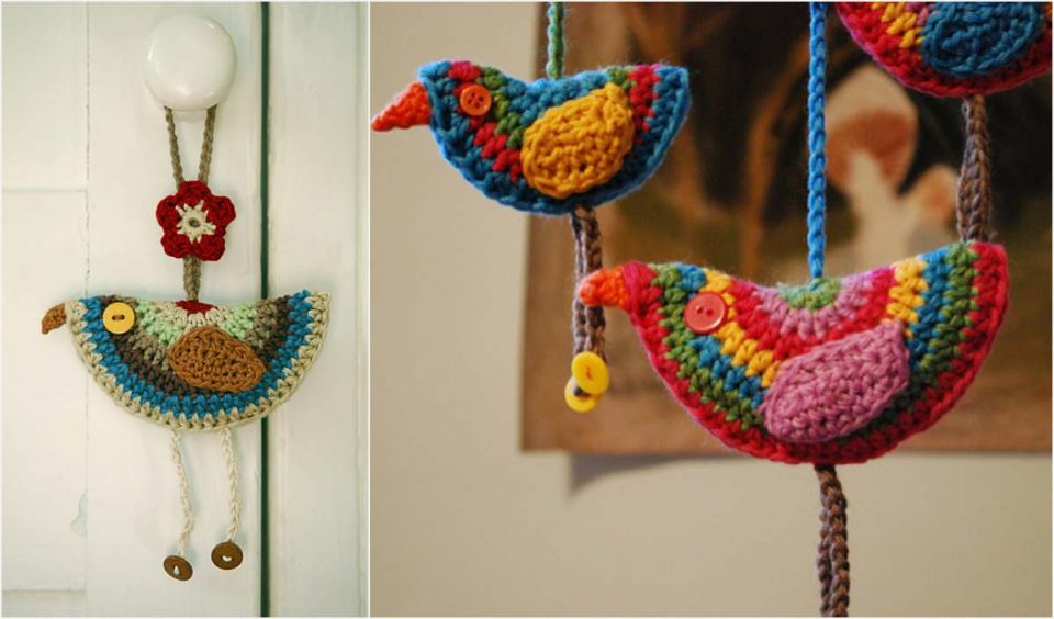Birdie Decorations Free Crochet Pattern
