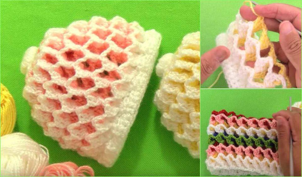 3D Reversible Beanie Hat Free Crochet Tutorial
