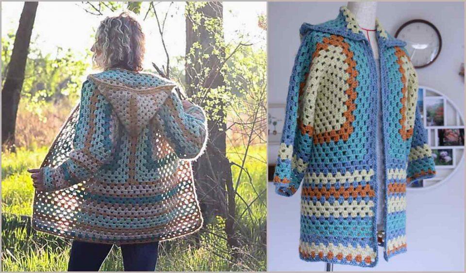 Campfire Cardigan Free Crochet Pattern