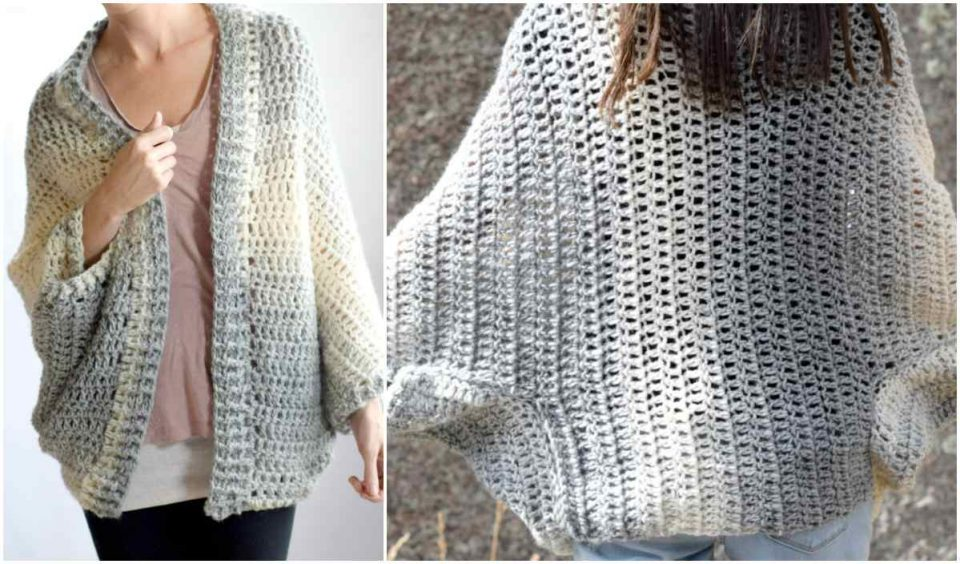 Done In A Day Shrug Free Crochet Pattern