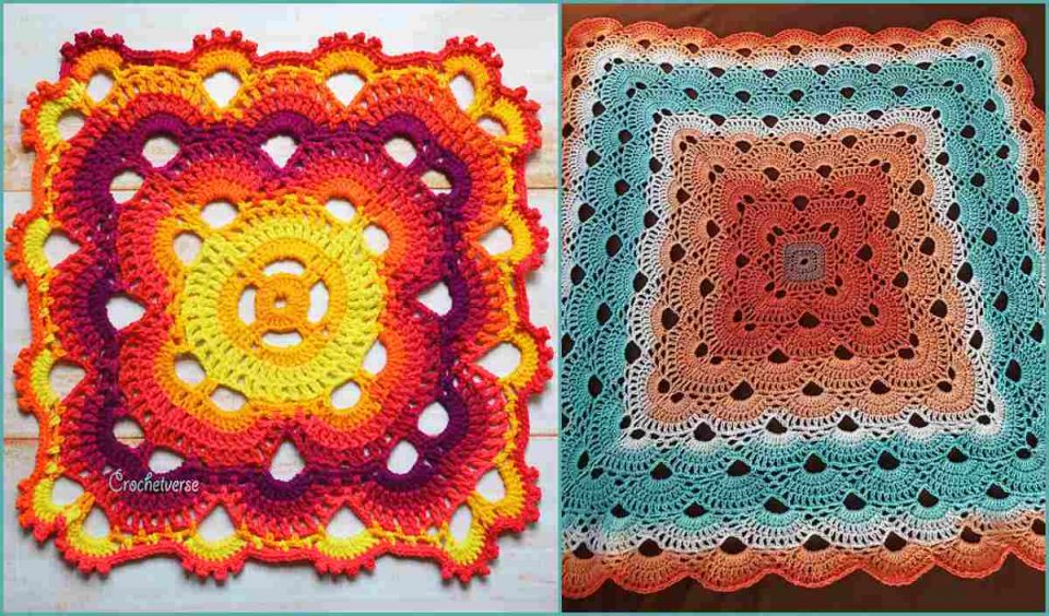 Virus Sort of Blanket Free Crochet Pattern