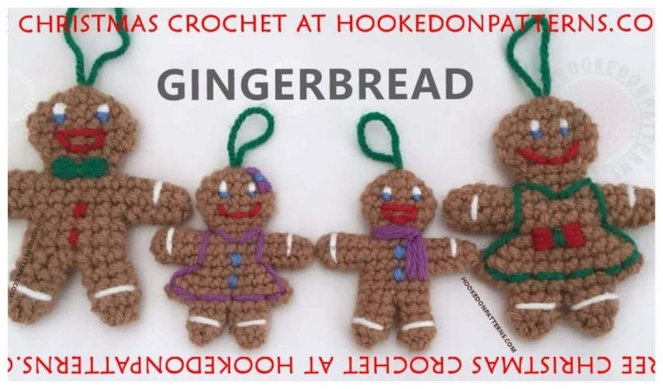 Gingerbread Family Free Crochet Pattern