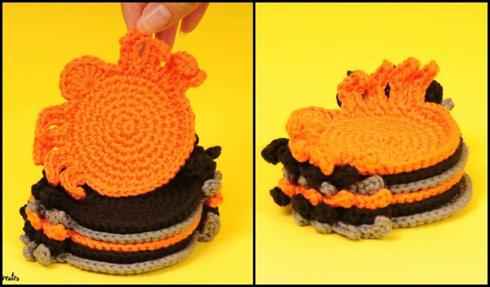 Spider Coasters Free Crochet Pattern