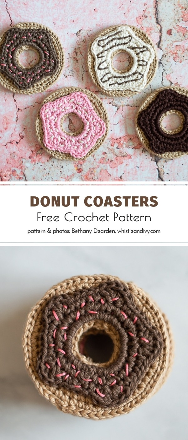 Crochet Donut Coasters