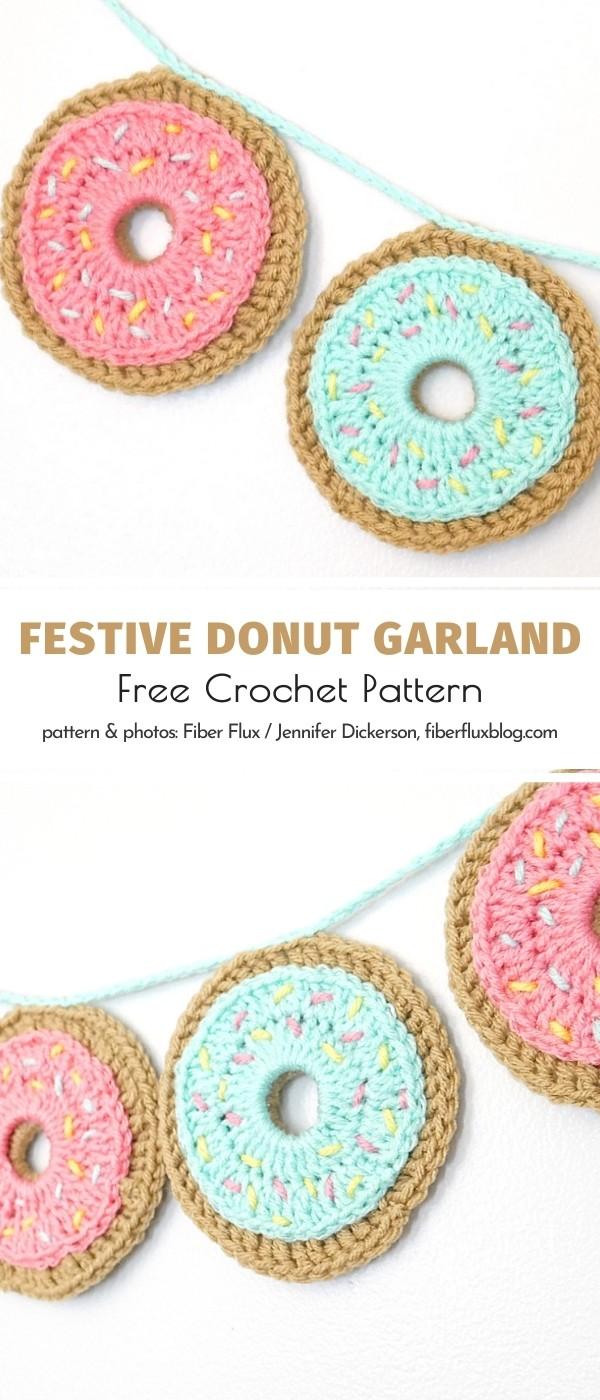 Donut Crochet Garland